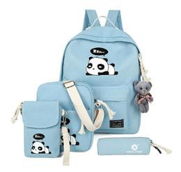 8d5cff5843fe Panda Blue Backpacks NZ - panda school bags children backpack set bags for  kids child lap
