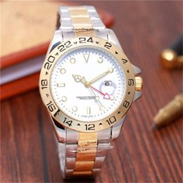 pink color watches UK - Relogio Masculino 44mm Big Dial Watch Men casual Brand Wristwatches NEW Digital Bezel Luxury Mens Gold Watches High Quality Quartz Clock Tag