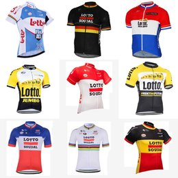 d681c01a1 LOTTO team Cycling Short Sleeves jersey Summer Cycling Shirt Bike Fashion Fast  Dry New ropa ciclismo hombre D308