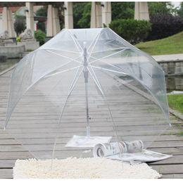 Discount nylon cage - Color Transparent Leaves Cage Sunny Umbrella Rain Umbrella Parasol Women Semi-automatic Umbrellas Clear