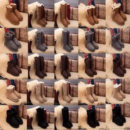Luxury microfiber online shopping - Classic WGG Boots Shoes Christmas Wool sheepskin Australia Designer For Men Women Luxury Brand Sexy Shoes With box