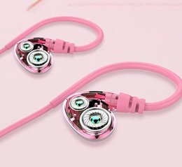 Motion Games Australia - Girls Earphone Type Cute Girl Heart Quad-core Double Motion Ring Noise Cancelling Voice Heavy Subwoofer Belt Cable K Song Game Eat Chicken M