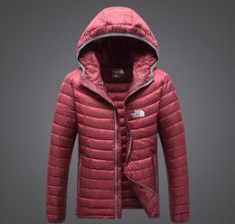 Top marca de moda clássico dos homens comprimir jaqueta esporte ao ar livre transporte conveniente Com Capuz Manter quente casaco solto Casaco com capuz casuais para baixo venda por atacado