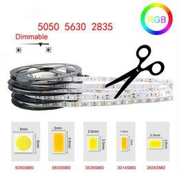Ingrosso Strisce LED ad alta luminosità 5M SMD2835 5050 5630 DC 12V 60LEDs / M Nastro flessibile Decorazioni impermeabili a nastro Luci a LED