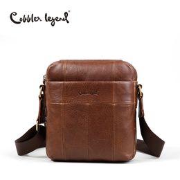 40cce25a59 Cobbler Legend Genuine Leather Messenger Shoulder Cross Body Bag Cowhide  Pouch Men Bag Flap Male Tote HandBag Purse