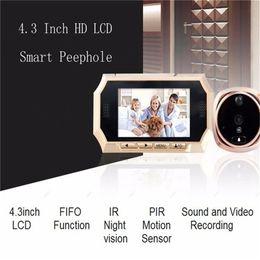 Lcd screen viewer online shopping - New inch Digital Doorbell LCD Color Screen Door Peephole Viewer Camera Photo Video Recording Door Camera IR Motion Detection