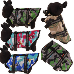 Wholesale designer army jackets resale online – Pet Dog Life Jacket Safety Clothes for Pet Life Vest Summer Clothes Saver Swimming Preserver Swimwear Large Dog Life Jacket