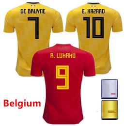 S-XL Belgium Jersey 2018 World Cup Top Thailand Quality LUKAKU FELLAINI E. HAZARD KOMPANY DE BRUYNE Mens Soccer Jerseys football shirt e1f5234cf