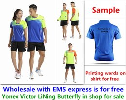 $enCountryForm.capitalKeyWord NZ - Wholesale EMS for free, Text printing for free, new badminton shirt clothes table tennis T sport shirt clothes A39
