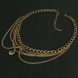 Fashion Trends Hair Canada - 2018 New Fashion Trend Natural Stone Pendant hairband gold chain Wedding hair jewelry for women