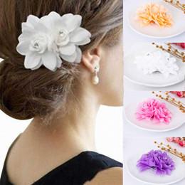 e823fca35 Red Rose haiR floweR wedding online shopping - new cloth flower hair clip  water drill flower