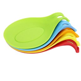 $enCountryForm.capitalKeyWord UK - 1Pc Silicone Spoon Resistance Temperature Insulation Mat Placemat Drink Glass Coaster Tray Random Color
