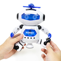 Best electronics for kids online shopping - New Arrival Dancing Robot Rotating Space Musical Walk Lighten Electronic Toy Christmas Birthday Best Gifs For Kids Toys