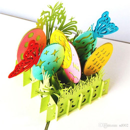 Easter Egg Butterfly 3D Greeting Cards Novelty Hollow Out Designer Invitation Card For Birthday Wedding Gift Party Supplies 7 13jj ZZ