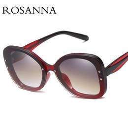 7d5369ddd08 ROSANNA Sexy Rimless Oversized Cat Eye Sunglasses Women Vintage 2018 Luxury  Brand Sun Glasses For Female Rivet Big Frame Male Shades UV400