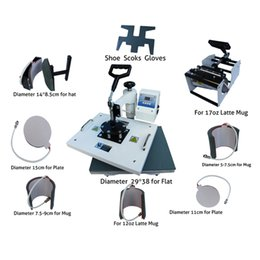 $enCountryForm.capitalKeyWord Canada - Multifunctional digital 9 in 1 combo heat press machine for printing T-shirt Mug Cup Plate Hat Flat Shoes Sock  Glove