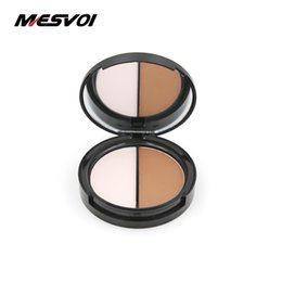 two faced palette 2018 - Two Color Highlighter & Bronzer Press Powder 1 pcs Contour Palette Face Highlight Makeup Full Size Net 13g M1005 cheap t