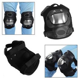$enCountryForm.capitalKeyWord Australia - 2 Pcs Stainless Steel Motorcycle ATV Adults Knee Pads Shin Guard Protective Armor Set Sports Protective Gear Motocross New