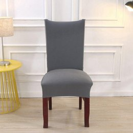 Chair Factories Australia - Factory Wholesale Spandex Stretch Solid Dining Chair Coves Elastic Seat Painting Slipcovers Restaurant Banquet Hotel Chair Covers