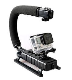 Handheld Dslr Camera Stabilizer Australia - C Shape Flash Bracket holder Video Handheld Stabilizer for DSLR Camera Phone Sports action camera Mini DV Camcorder GoPro Hero 3 3+ 4