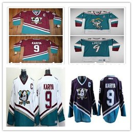 3cb68290f Cheap custom Paul Kariya Anaheim Mighty Ducks CCM Vintage Home Away Jersey  Mens Personalized stitching jerseys