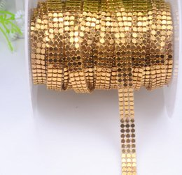 $enCountryForm.capitalKeyWord NZ - 3mm 1cm width 3rows lot Mesh Metal rhinestone 3 color Trim sewing strass crystal bridal applique roll for clothes placemat
