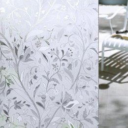 $enCountryForm.capitalKeyWord Australia - New 45*100CM UV Proof Static Cling Frosted Stained Flower Glass Window Film Sticker Privacy Home Decor