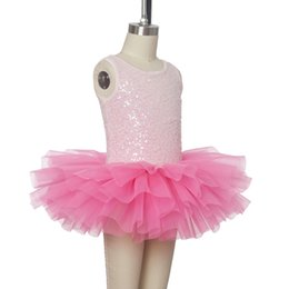 51d02e6ce7cc Lovely Shining Sequin Bodice Pink Child Ballet Tutu Kid Performance Dance  Costume Ballerina Stage Wear Girl Party Birthday Dress