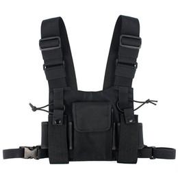 Abbree rádio peito peito peito pacote frontal bolsa coldre colete transportar Cade para Baofeng TYT Wouxun Motorola Walkie Talkie venda por atacado