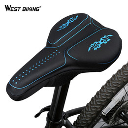 $enCountryForm.capitalKeyWord Canada - WEST BIKING Bicycle Saddle Cover 3D Silicon Gels Thick Sponge Anti-Slip Breathable Comformation Protect Seat Bike Cushion Cover