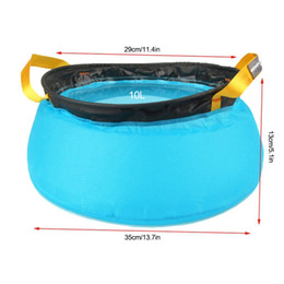 China Outdoor 10L Portable Wash Bag Ultralight 20D Nylon Folding Water Washbasin Foot Bath Camping Equipment suppliers