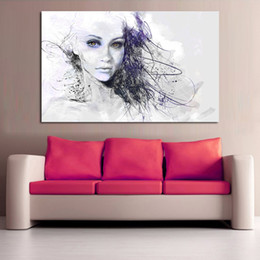 $enCountryForm.capitalKeyWord UK - 1 Panel Home Decor Canvas Print Girl Portrait Oil Painting for Living Room Wall Decoration Posters and Prints No Frame