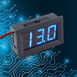 DC4.5-30 в 0.56 дюймов цифровой вольтметр двухпроводной трехзначный номер светодиодный дисплей напряжения метров для мотоциклов автомобилей на Распродаже