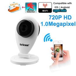 Wholesale Sricam New Onvif HD P Wireless Indoor Home Monitor IP Camera SP009 Support G Micro SD Card Remote Control WiFi iOS Android