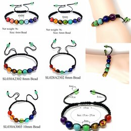 Crystal ropes online shopping - 7 Chakra Beads Bracelets Adjustable Braided Rope Healing Turquoise Bracelet for Men Women Reiki Prayer Stones Arm Cuff Party Favor GGA1216