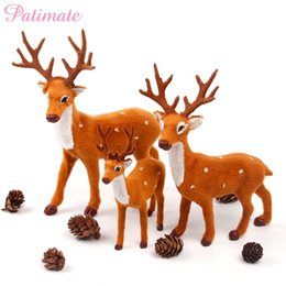 christmas reindeer decor australia patimate simulated plush reindeer fake furry deer merry christmas decor for - Christmas Deer Decor