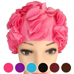 Bath & Shower Women Waterproof Shower Bath Cap Hat With Bear Bowknot Balloon Cherry Design For Adult D5