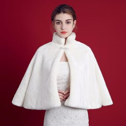 $enCountryForm.capitalKeyWord NZ - Winter Wedding Bridal Faux Fur Wraps Ecru White Short Cloak Shawls High Neck Warm Wedding Shawl Jackets Bolero for Events Weddings Dresses