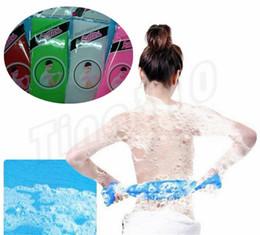 NyloN exfoliatiNg towel online shopping - Hot Bath Brushes Novelty Multi Colors Nylon Sponges Exfoliating Beauty Skin Shower Wash Bath Cloth Towel Bath Brushes