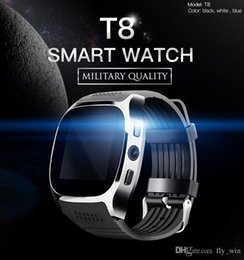 Smart Watch Android Sync Australia - T8 SmartWatch Bluetooth Smart Watch For Android Support Positioning Pedometer SIM TF Card With Camera Sync Call Message SmartWatch