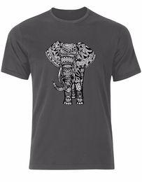 04879193eeb Cotton Shirts Stunning Indian Elephant Mandala Henna Boho Style Mens Tshirt  Tee Top AL37 Funny Casual Clothing