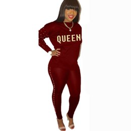 China Letter Print 2 Piece Set Women Plus Size Long Sleeve Top And Pants Casual Outfit Sweat Suits Two Piece Woman Tracksuits Female cheap plus woman yoga pants suppliers