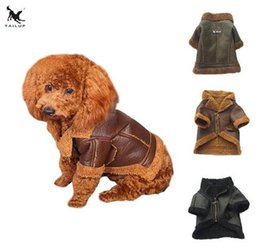 $enCountryForm.capitalKeyWord UK - TAILUP Dog Spring Winter Warm Pet Clothes Soft PU Leather Coat For Small Yorkie Dogs Windproof Puppy Chihuahua Fur Jackets Top Quality