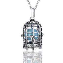 $enCountryForm.capitalKeyWord Australia - Birdcage shape pregnancy Pendant Necklace Mexican Bola essential oil diffuser necklaces aromatherapy jewelry with Sound ball bell Lockets