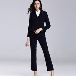 ac874adb52b Ol cOttOn jacket online shopping - Autumn new professional wear women s suit  fashion long sleeved
