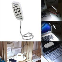 Venta al por mayor de El interruptor brillante flexible de la lámpara de lectura de la luz del USB 28 LED para el ordenador portátil PC Bed / Table / Desk Book Lights Lamp