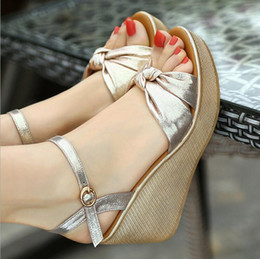 summer plus size cloths Canada - Black+ Gold Color Summer Women Sandals Linen Ankle Strap Wedges For Ladies Platform Shoes Plus Size 34-42 High Heels Female Cover Heel