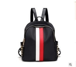 $enCountryForm.capitalKeyWord Canada - Women High Quality Brand Fashion Beach Bags Hit Color Stripes Zipper Mini Bags Backpacks Ladies Shoulder Bag Waterproof Oxford cloth bag