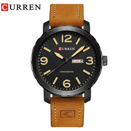 Watches Ceramic Wrist Bands NZ - Men's Quartz Wrist Curren Watches 2017 mens watches top brand luxury relogio masculino curren watch Quartz leather band Wristwatch 8273