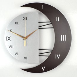 reloj pare 2019 - Nordic personality wall clock modern large size mute scan movement wall clock living room bedroom reloj pared decoration